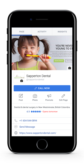 dentist facebook seo design