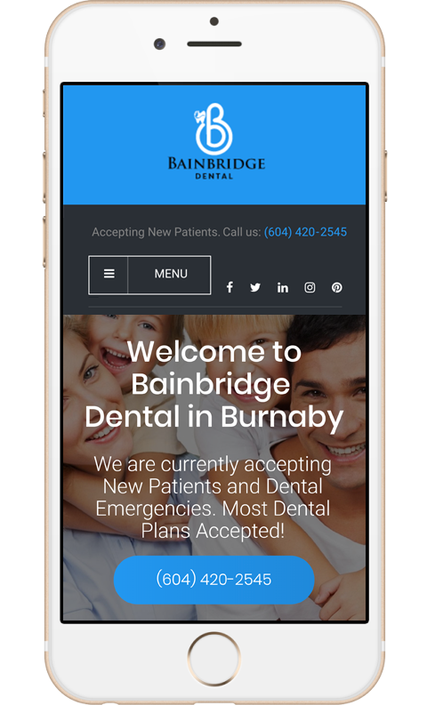 mobile web design for dentist